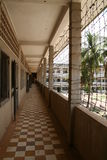 Prison corridor. Pnom Penh. Cambodia Royalty Free Stock Photography