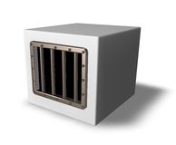 Prison cube Royalty Free Stock Images