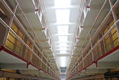 Prison d'Alcatraz à San Francisco, Etats-Unis photo stock