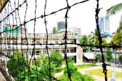 Prison de Tuol Sleng (S21), Phnom Penh Image stock