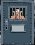 Prison door. On a white background vector illustration Stock Photos