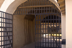 Prison Doors. This is the entrance to the historic Yuma Territorial Prison in Arizona Royalty Free Stock Image
