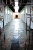 Prison entrance and corridor Royalty Free Stock Images