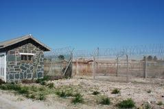 Prison extérieure d'île de Robben Image libre de droits