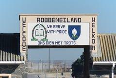 Prison extérieure d'île de Robben Photos stock