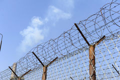 Prison fence Stock Photo