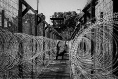 Prison fence Stock Images