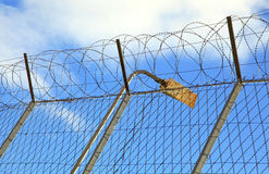 Prison fence Royalty Free Stock Image