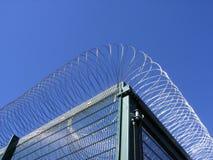 Prison fencing. Fencing around German prison Stock Images