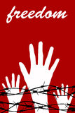 Prison freedom royalty free illustration