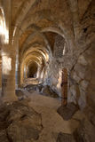 Prison gallery. Gallery with columns, former prison in Middle Ages royalty free stock images