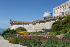 Prison Gardens at Alcatraz Island Prison Royalty Free Stock Photo
