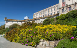 Prison Gardens at Alcatraz Island Prison Royalty Free Stock Images