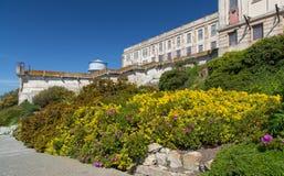 Prison Gardens at Alcatraz Island Prison Royalty Free Stock Images