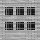 Prison Grey Brick Wall Photo stock