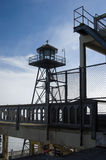 Prison Guard Tower. On Alcatraz Island, San Francisco royalty free stock photo