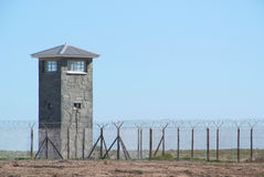 Prison Guard tower from inside jail Royalty Free Stock Image
