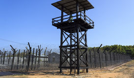 Prison guard tower Royalty Free Stock Image