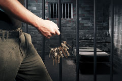 Free Prison Guard With Keys Stock Photos - 16388253