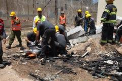Prison guards rescue rocket attack casualties in Carmel Prison Stock Photos