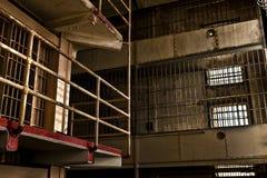 Prison Gun Gallery. A caged prison gun gallery in Alcatraz royalty free stock photography