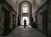 prison Hallway, liberated Stock Images