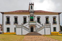Prison Historical Building Mariana Brazil. The facade of the prison, a historical colonial building in Mariana, Minas Gerais, Brazil stock photos