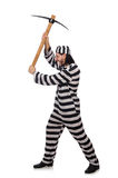 Prison inmate with axe Royalty Free Stock Photography