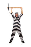 Prison inmate with axe Royalty Free Stock Images