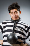 Prison inmate in funny Royalty Free Stock Image