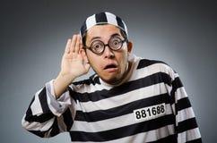 Prison inmate in funny Stock Image
