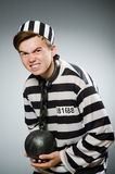 Prison inmate in funny Royalty Free Stock Photography