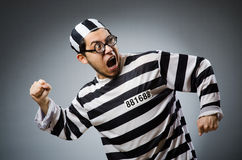Prison inmate in funny Royalty Free Stock Photo