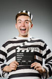 Prison inmate in funny Royalty Free Stock Photos