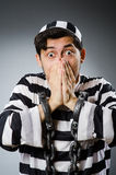 Prison inmate in funny concept Stock Photography