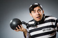 Prison inmate in funny concept Stock Images