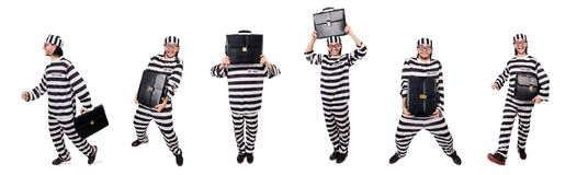 The prison inmate isolated on the white background Royalty Free Stock Images