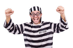 Prison inmate isolated Royalty Free Stock Images