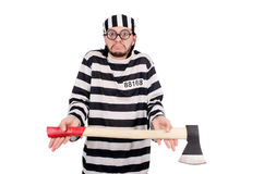 Prison inmate isolated Royalty Free Stock Image