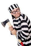 Prison inmate isolated Stock Photography