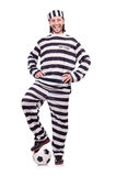 Prison inmate isolated Royalty Free Stock Photography
