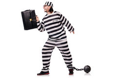 Prison inmate isolated Royalty Free Stock Photos