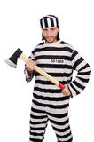 Prison inmate isolated Stock Image