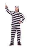 Prison inmate isolated Stock Photo