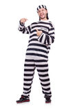 Prison inmate isolated on the white background Stock Image