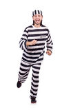 Prison inmate isolated on the white background Stock Images