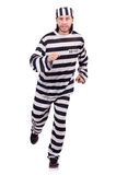 Prison inmate isolated on the white background Stock Photos