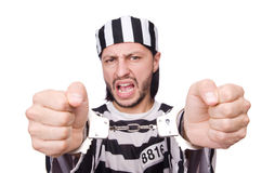 Prison inmate isolated on the white background Stock Photo