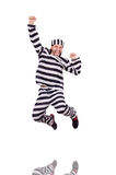 Prison inmate isolated on the white background Stock Photography