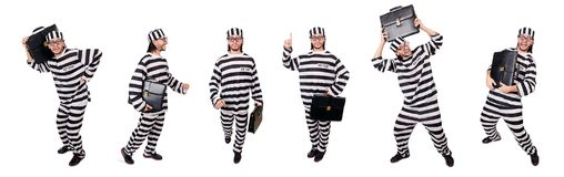 The prison inmate isolated on the white background Stock Photo